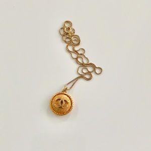 Authentic Chanel button necklace
